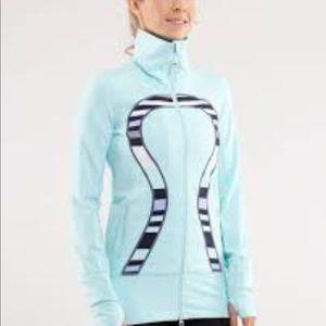 Lululemon 'In Stride' Jacket Heathered Aquamarine